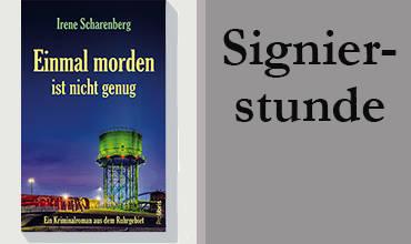 Irene Scharenberg signiert ihre Bücher