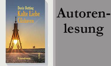 Doris Oetting liest in der Innenstadt von Minden